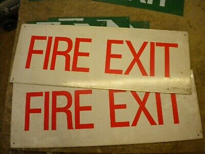 ALUMINIUM BACKED FIRE EXIT SIGNS and GREEN PLASTIC FIRE EXIT SIGNS