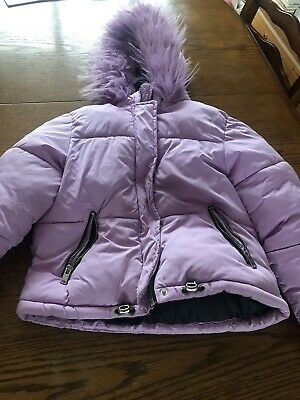 Next Girls Lilac Puffa Jacket Aged 8