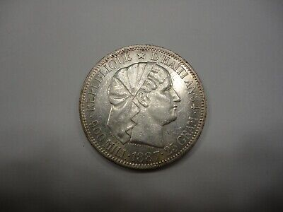 Haiti Republic 1887 GOURDE KM 46 Uncirculated