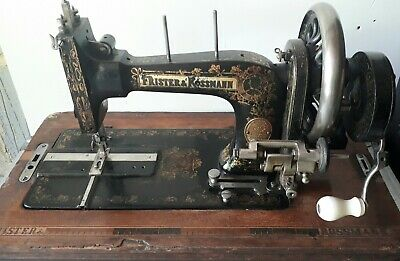 1901 FRISTER & ROSSMANN SEWING MACHINE - WORKING  needs more cosmetic renovation