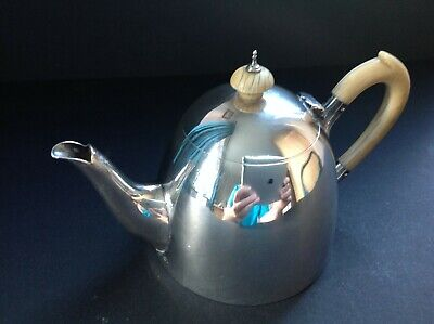 Rare Antique Georgian Sterling Silver Saffron Pot Teapot Louisa Courtauld 1765
