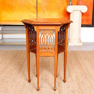 Antique Arts & Crafts Table 19th Century Mahogany Console Lamp Table