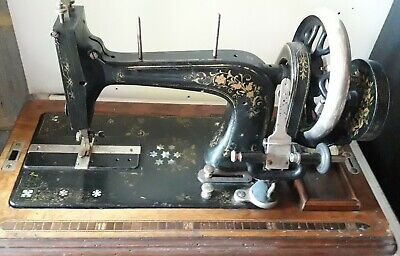 Early FRISTER & ROSSMANN SEWING MACHINE - WORKING needs more cosmetic renovation