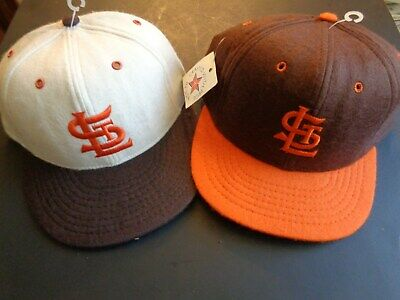 NEW,Never Worn-Vintage (40's) St. Louis Browns-Replica-Baseball Caps-(Set of 2)