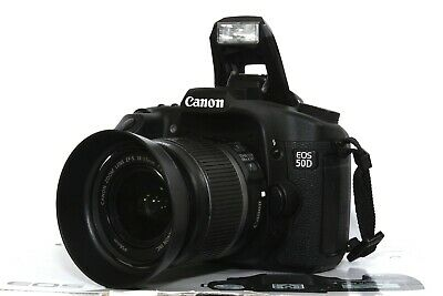 Canon EOS 50D 15,1 MP FULL HD DSLR mit Canon EF-S 18-55mm IS Objektiv + OVP