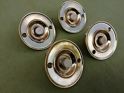1 x 1930s / 40s SOLID BRASS PUSH BELL POLISHED