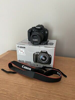 Canon EOS 1200D 18.0MP Digital SLR Camera - Black (Kit w/ EF-S 18-55mm Lens)
