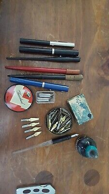Calligraphy Pen Set With Various Tips And Ink