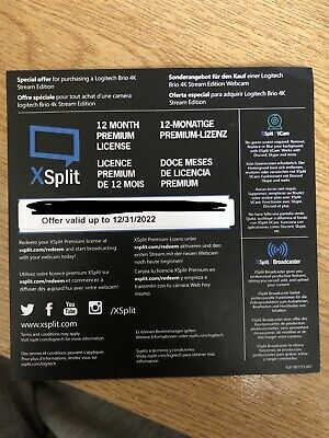 XSplit 12 Months Premium Licence Subscription Code