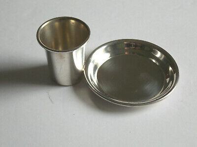 Vintage Sterling Silver Ashtray & Match Cup With Hallmarks