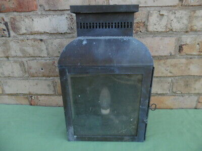 Stunning Large Rare Old Brass / Copper Light Beautiful Patina Untouched