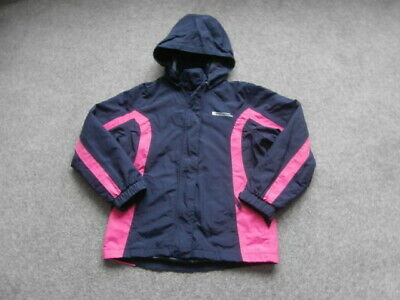 Mountain Warehouse NAVY Showerproof Hooded Jacket Age 9/10 Years Excellent