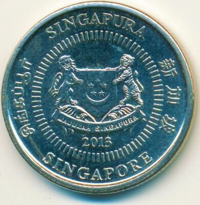 Coin / Singapore / 10 Cents 2013 Unc        #Wt14084