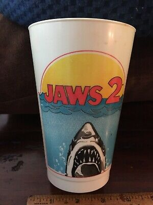 1978 Jaws II Shark Coca Cola Souvenir Plastic Cup Movie Release