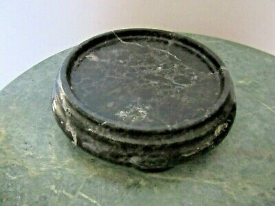 """Polished Marble Stand Base For Plant Pot Bowl Or Figurine 4""""  Diameter"""