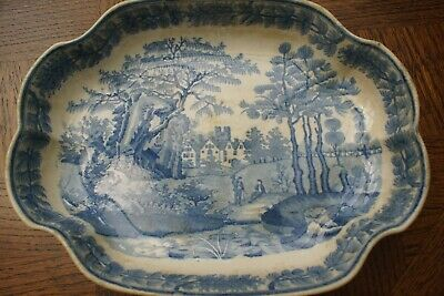 antique davenport china dish no chips or cracks but very age stained