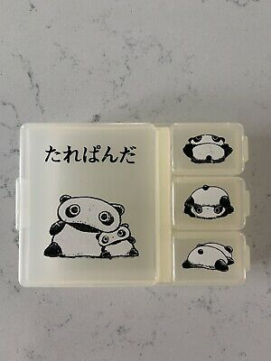 Vintage Tare Panda San X Medication Trinket Pill Compartment Box