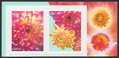 DAHLIA = BK Pair with 2 Envelope SEALS = MNH Canada 2020