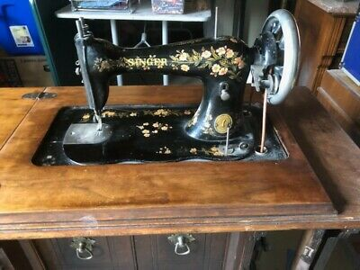 1885 antique Singer Treadle Sewing Machine with original table
