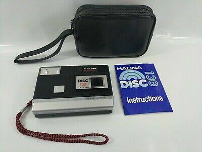 Vintage Halina Disc 108 Film Camera with Manual Instructions and Case Working