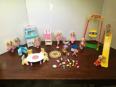 Barbie KELLY DOLLS Nursery Swing BABY CHANGING TABLE Furniture ACCESSORIES LOT