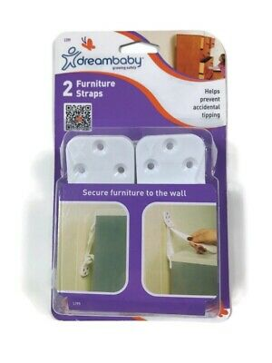 Dreambaby Growing Safely 2 Furniture Straps L199 Secure Furniture Tobthe Wall