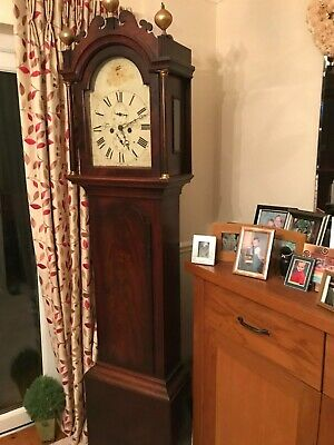 Longcase  grandfather grandmother clock antique made in CANTERBURY KENT 1847