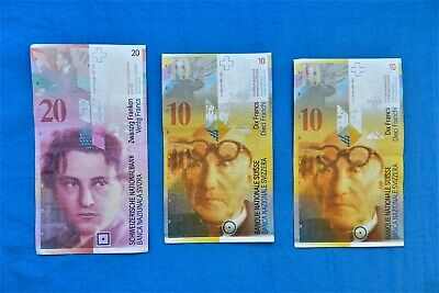 Lot of Switzerland Banknotes  *40 CHF*  *All Legal Tender*