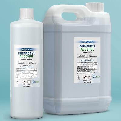 Isopropyl Alcohol 99.9% PURE Isopropanol Lab Grade Rubbing IPA Disinfectant