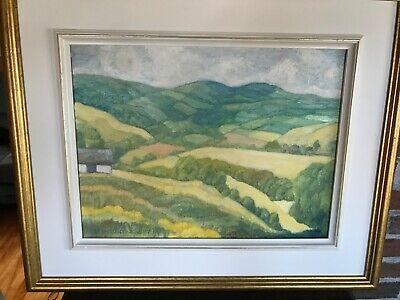 """1987 Quebec Oil Painting Jean CONSTANTINEAU Listed 12""""x16"""" St Urbain"""