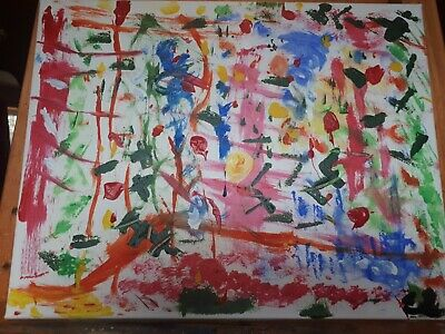 Original Abstract Acrylic Canvas Painting