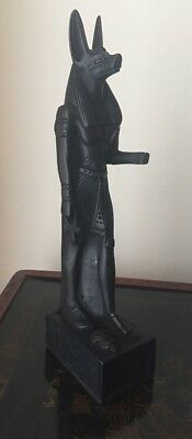 egyptian statue of anubis god of the underworld