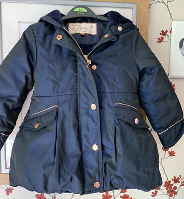 Girls Ted Baker Coat Navy 2-3 Years Floral Print