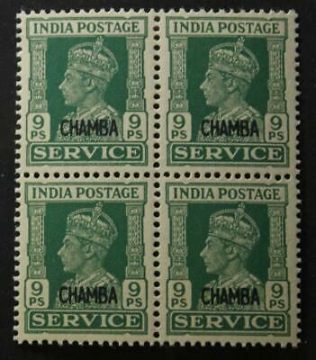 India Chamba #O58, VF, MNH OG Block Of 4