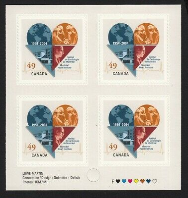 MONTREAL HEART INSTITUTE = EMBLEM = BK PAGE OF 4 = MNH Canada 2004 #2056