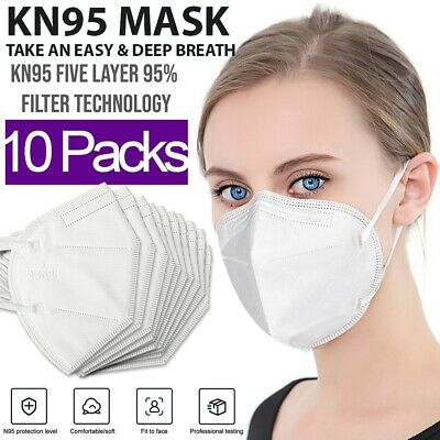 KN95 Protective 5 Layers Face Mask [10 PACK] BFE 95% PM2.5 Disposable Respirator