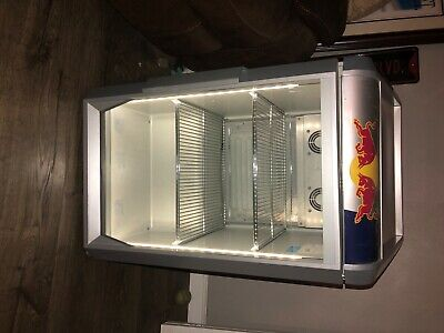 Red Bull Countertop Led Cooler- Works Great And Looks Perfect