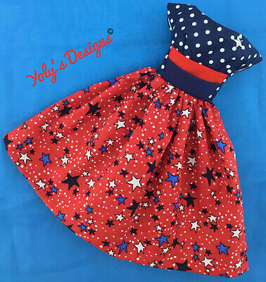 OOAK Independence Day Handmade Dress FITS Barbie Vintage Reproduction Silkstone