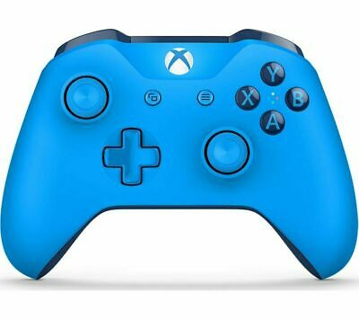 MICROSOFT Xbox One Wireless Controller - Blue - Currys
