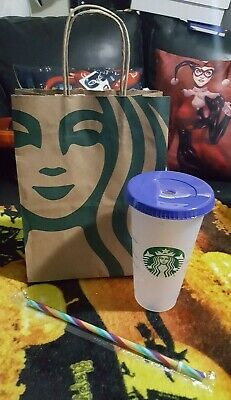 Starbucks Confetti Color Changing Cup Rainbow Pride +Straw Summer 2020 Reusable