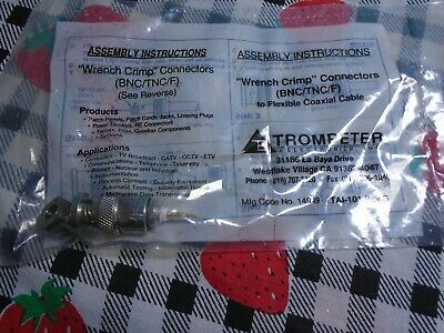 Trompeter Wrench Crimp Connector (BNC/TNC/F) No.14949/TAI-101 Rev.G (Sealed Bag)