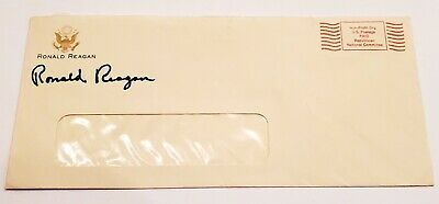 SIGNED President Ronald Reagan Hand Signed RNC Envelope BOLD Autograph