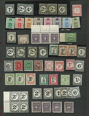 British Commonwealth postage due selection