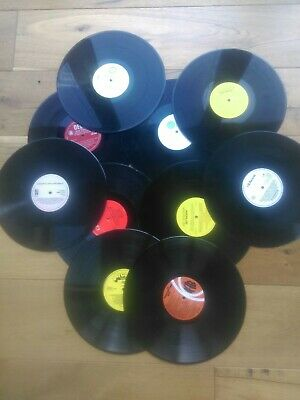 Job lot 100 x 12 inch LP vinyl records for craft, upcycling projects etc