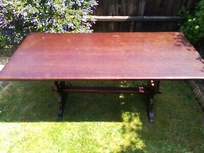 Oak Refectory Dining Table Reproduction Antique Style  Furniture Delivery