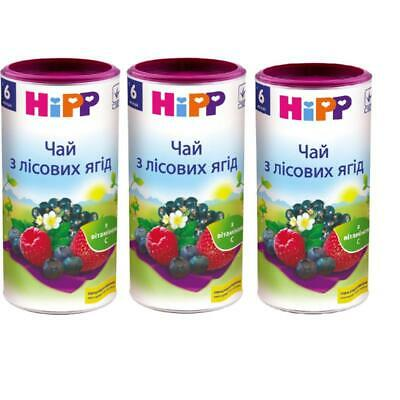 3X Hipp Infant Tea with Wild Berries from 6 months each 200g/7oz