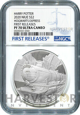 2020 Harry Potter - Hogwarts Express - 1 Oz. Silver Coin - Ngc Pf70 First Releas