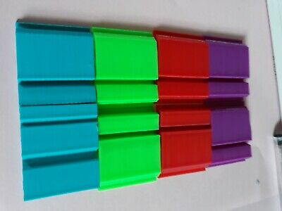 2 x Plate Clips L & P Plate Holders | Clip It On purple, red or green  free post