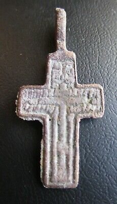 Russian Empire ancient orthodox bronze cross 1800s original Old believers Г2