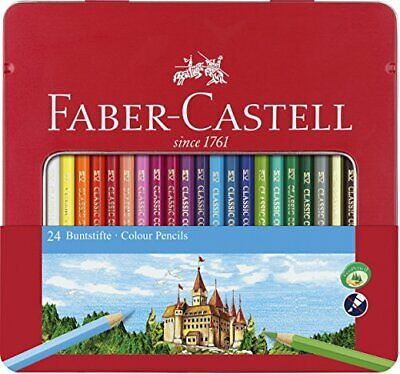 Faber-Castell 115824 Hexagonal Colour Pencil (Pack of 24)
